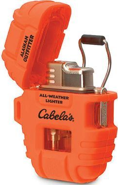 Every bug out kit should have some sort of all weather fire starter...Cabela's Alaskan Outfitter All-Weather Lighter