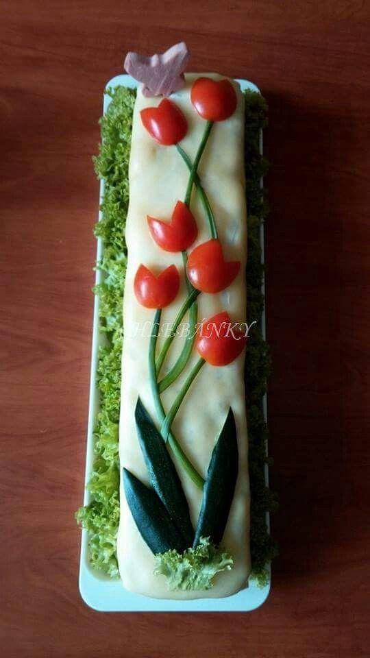 Ideia pra decoração de bolo salgado
