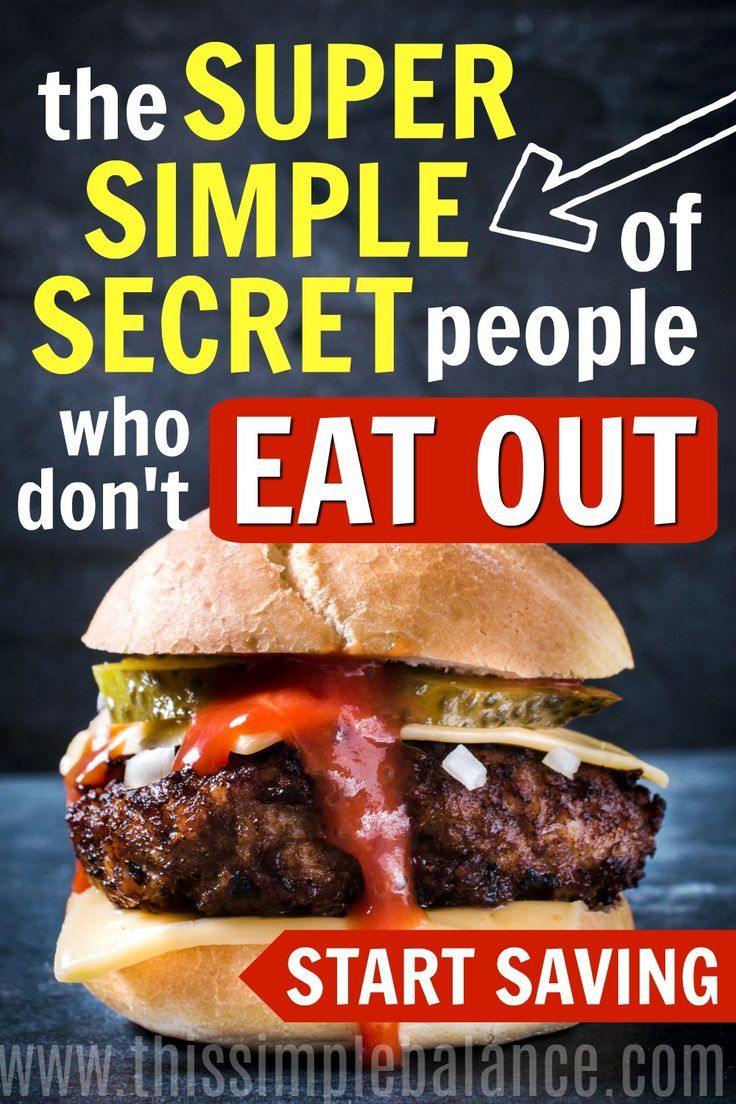 Are you struggling to stop eating out? Learn the super simple secret to stop eating out that will save you SO much money. #frugallivingtips #savemoney