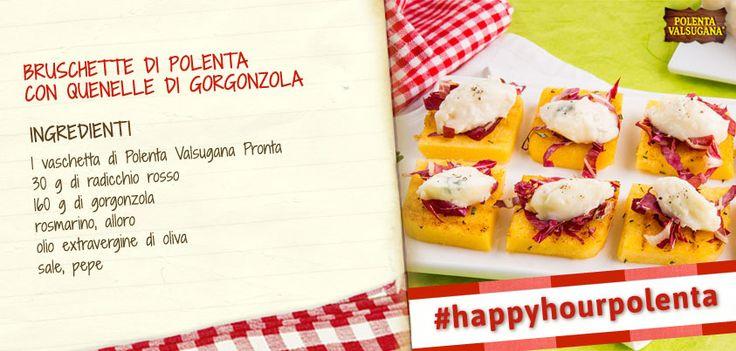 Ti piacciono le bruschette? Aspetta di assaggiare queste…e sarà amore eterno! #happyhourpolenta
