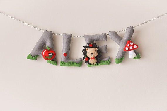 Felt name banner, nursery decor, personalized gift, felt letters, baby gift, child room baby name garland, custom felt name, MADE TO ORDER