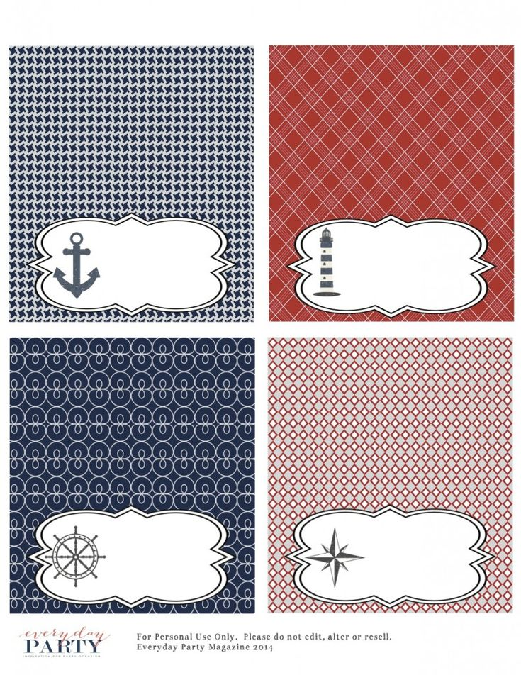 FREE Nautical Party Printables - Everyday Party Magazine