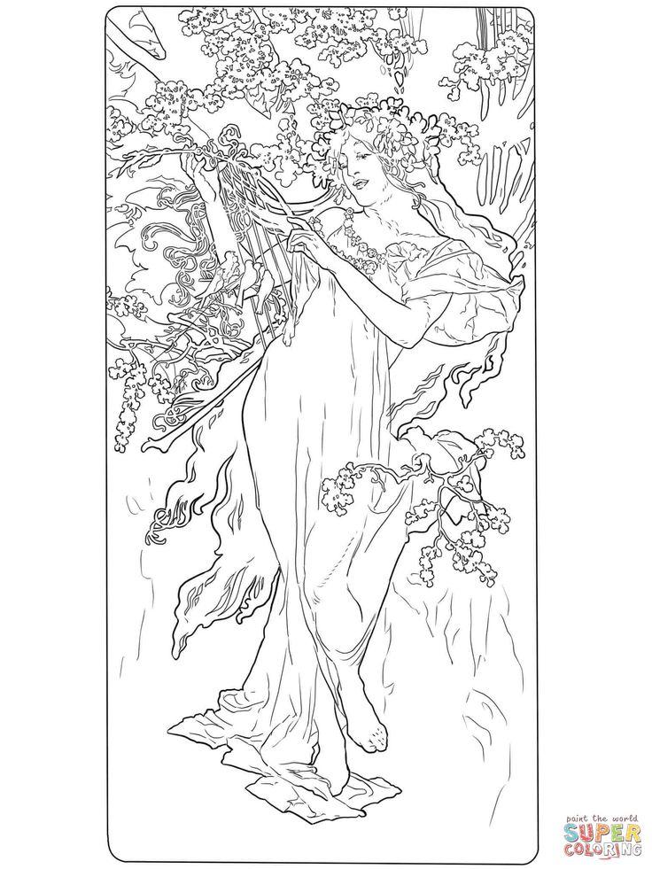 47 besten Art Nouveau Illustration Bilder auf Pinterest   Jugendstil ...