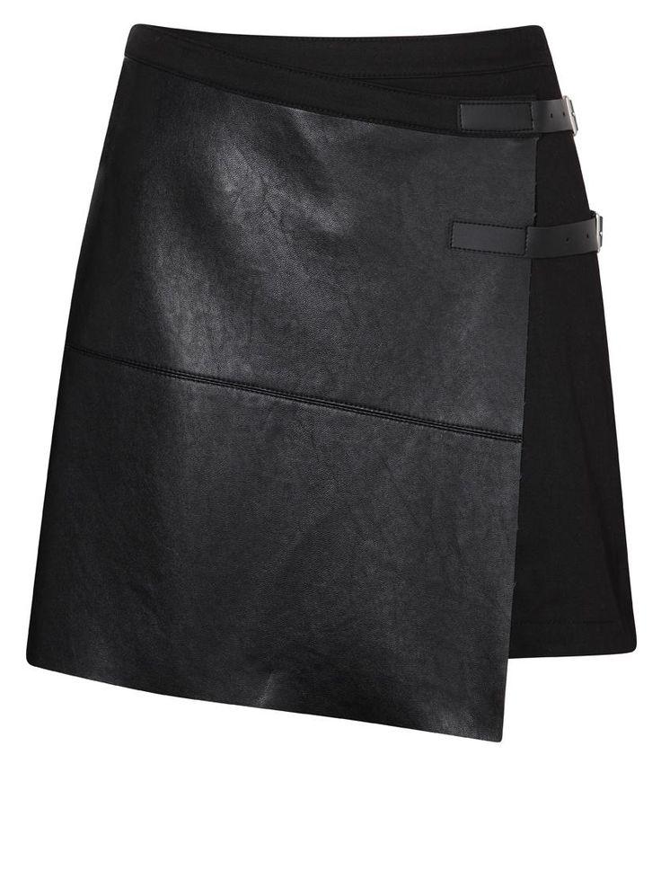 blank mini skirt fold ties