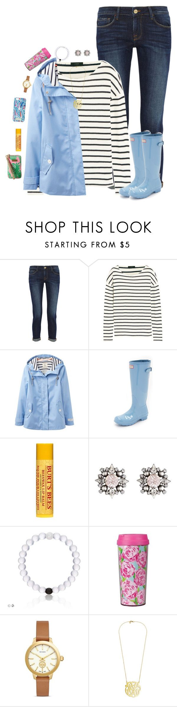 """""""read the description for life updates"""" by preppy-ginger-girl on Polyvore featuring Frame Denim, J.Crew, Joules, Hunter, Burt's Bees, DANNIJO, Lilly Pulitzer and Tory Burch"""