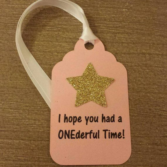 Twinkle Twinkle Little Star 1st Birthday party Favor tags Use on your favor bags or boxes  Pink and gold party decor