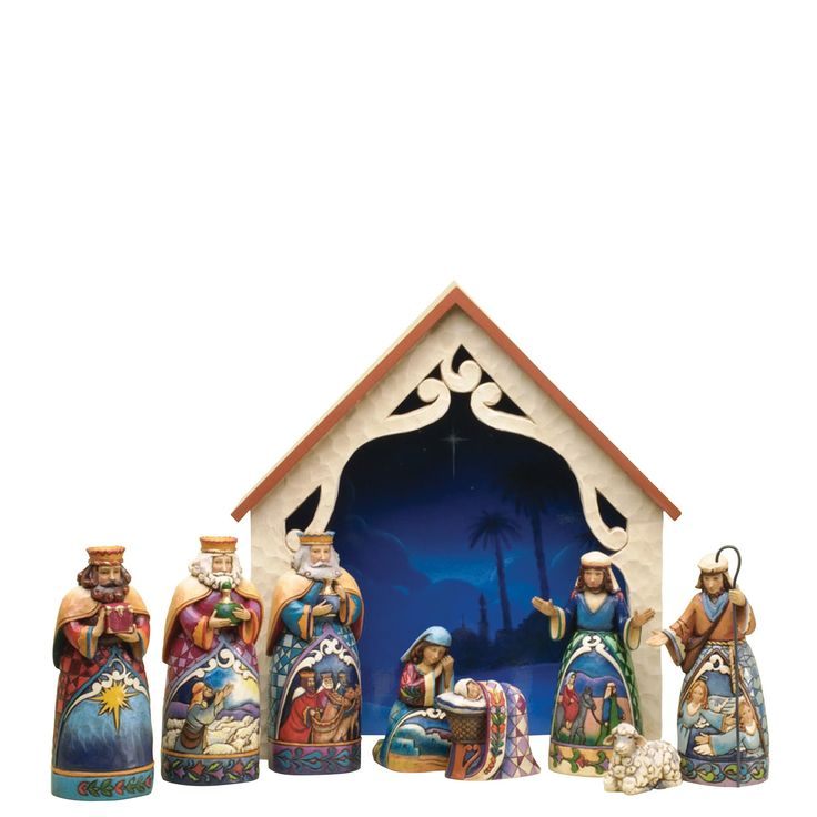4034382 Away In A Manger (Mini Nativity) (Set 9)