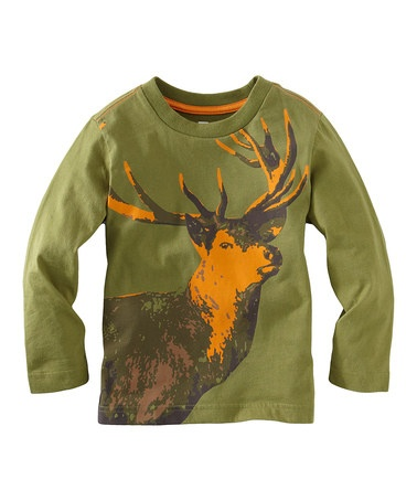 Greg would love...perfect for my little North Idaho boy! :)  Elm Daring Deer Tee - Toddler & Kids by Tea Collection on #zulily today!