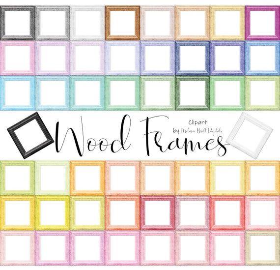 rustic frames clipart wood vintage colorful frame overlay etsy frame clipart rustic frames colorful frames pinterest