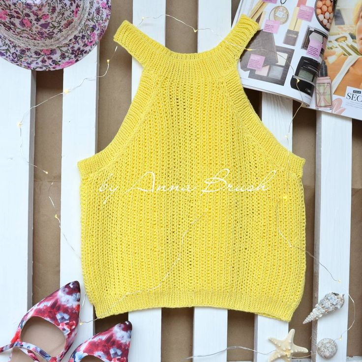 Вязаный спицами топ, кроп топ, укороченный топ, хендмейд Knit croptop handmade, ribbed top halter top boho #вязаныйтоп #вязание #кроптоп #вязаниеспицами #knitting #knit #croptop #handmade #одежда #handknit