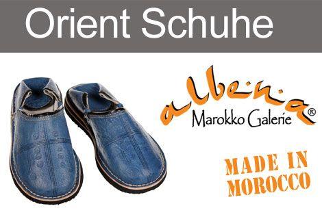 Bequeme, marokkanische Babouche aus echtem Leder. www.albena-shop.de