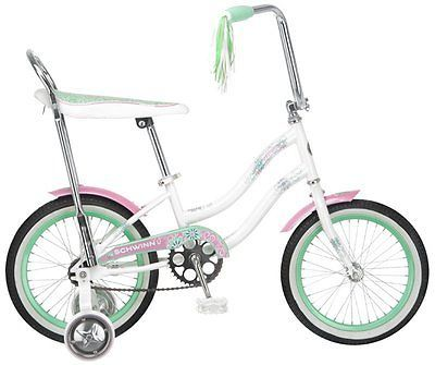 Schwinn-Girl-039-s-Bike-Bicycle-Banana-Seat-Jasmine-16-Inch-Bicycle-White