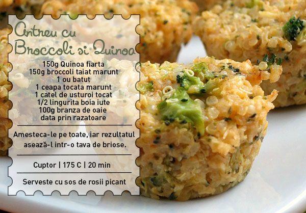 Antreu cu Broccoli si Quinoa
