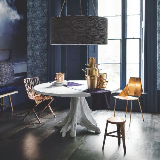 Decorating wth navy blue