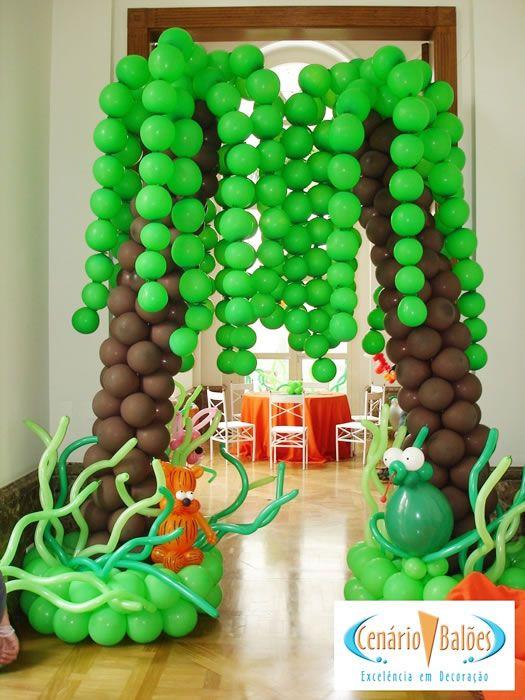 Fotos - Safári- Cenário Balões - Excelência em Decoração