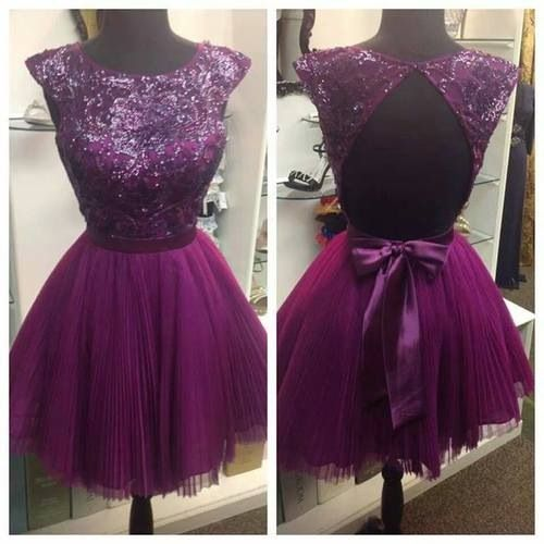 Open back pink dress with glittery bodice