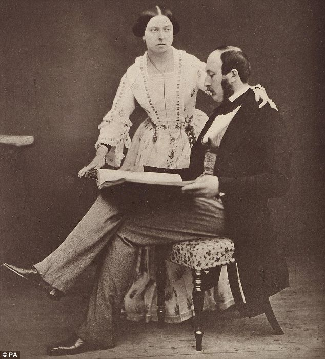 Victoria and Albert, seen here in 1854, were married in February 1840 after she proposed to him
