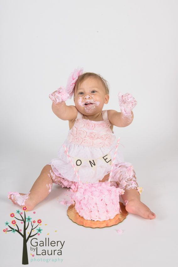 Audrey is cake smash photos charleston sc baby photographer