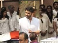 These pictures of Arjun Kapoor, Janhvi and Sonam Kapoor from Sridevi's funeral will make you realise the family's plight...