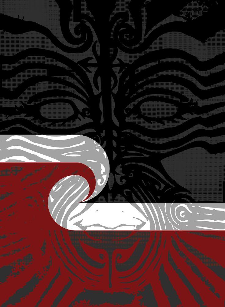 Moko/Maori flag overlay