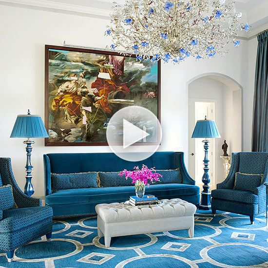 Gorgeous Luxe Living Room (reminds me of the hotel scene in The Wiz)