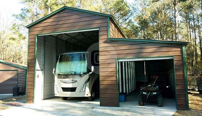 18x41 Rv Garage With Lean To Shed Shed House Plans Metal Rv Carports