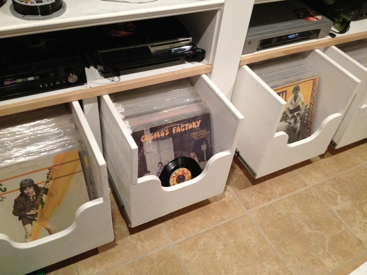 Custom made drawers for my record collection :)