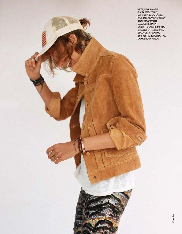 .: Partial France, Style, Jackets, Wild Spirit, Cass Birds, Baseb Cap, Fashion Editorial, July 2012, Daria Werbowy