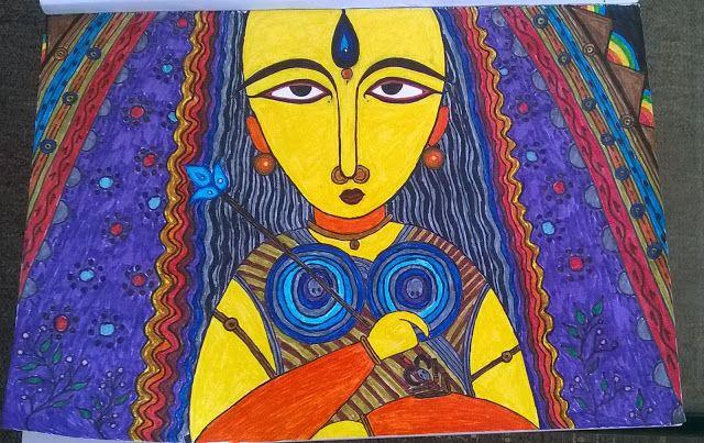 Organic Paint Brush: The Mother GoddessMaa Durga is symbolic of the ele...