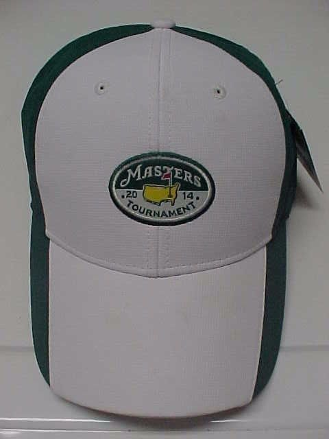 The MASTERS Tournament 2014 Golf Green White Hat Cap Adjustable Baseball New Tag #AheadUSA
