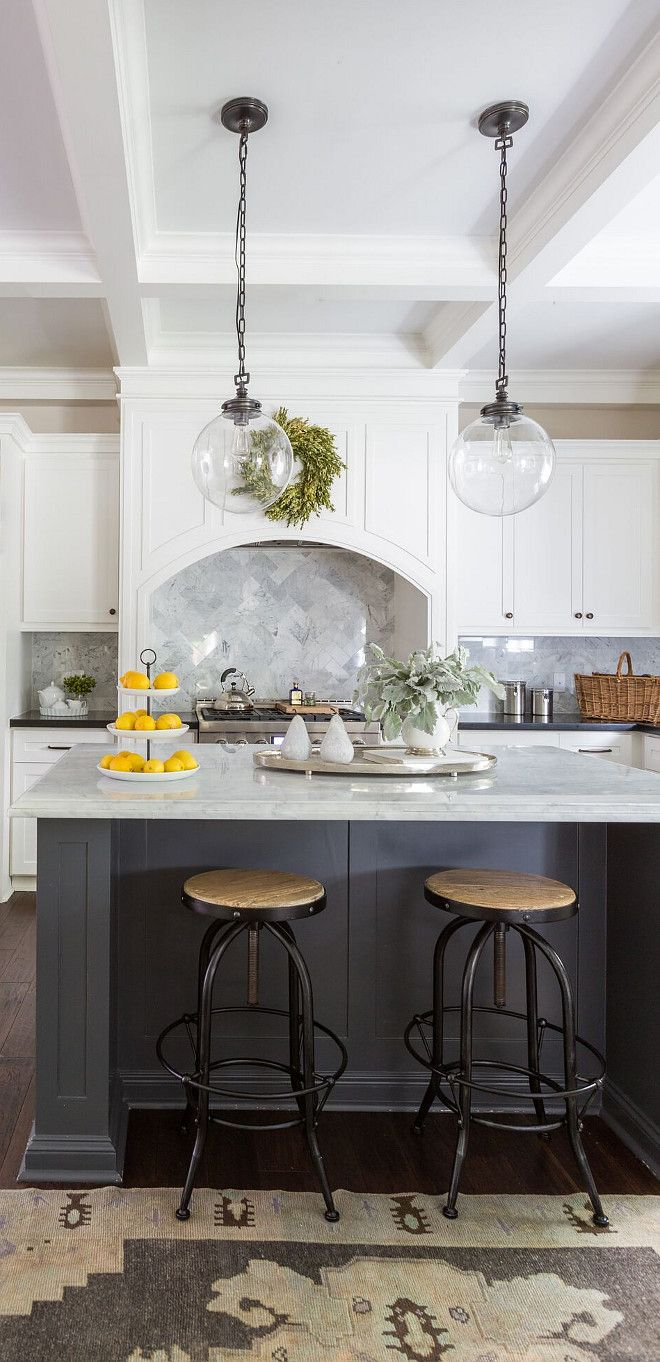 Kitchen Lighting and stools The right lighting