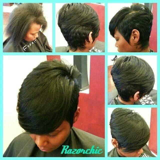 Short Hair Cut Razor Chic of Atlanta