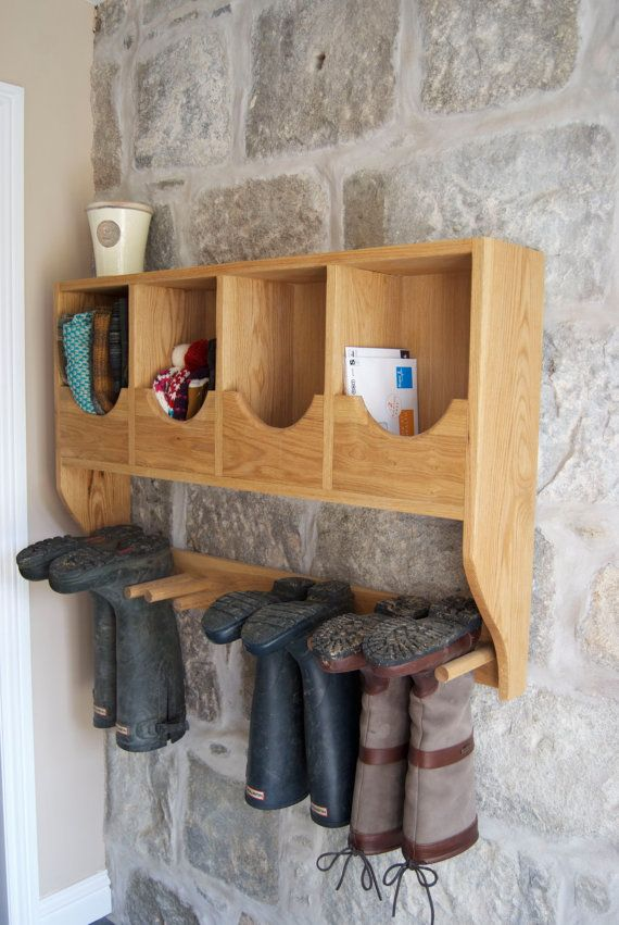 Solid Oak Hand Made Wellington Boot Rack by CorrennieCarpenty, £255.00
