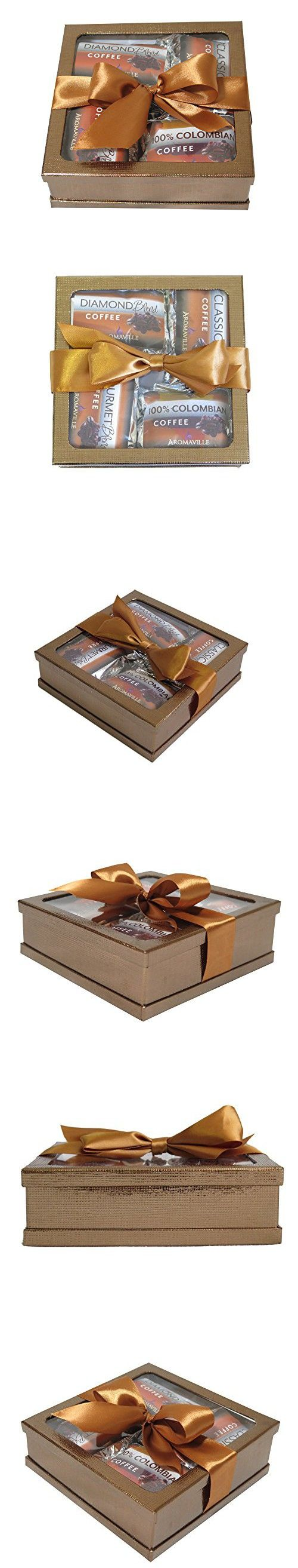 Gourmet Coffee Gift Set - Coffee Gift Basket - Coffee Lovers Gifts - Coffee Gift Set - Best Gift for Coworkers, Friends, Boss Etc. (Gold)