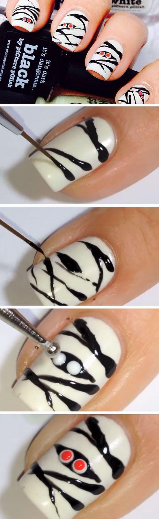 11 best uñas Halloween images on Pinterest   Nail scissors ...