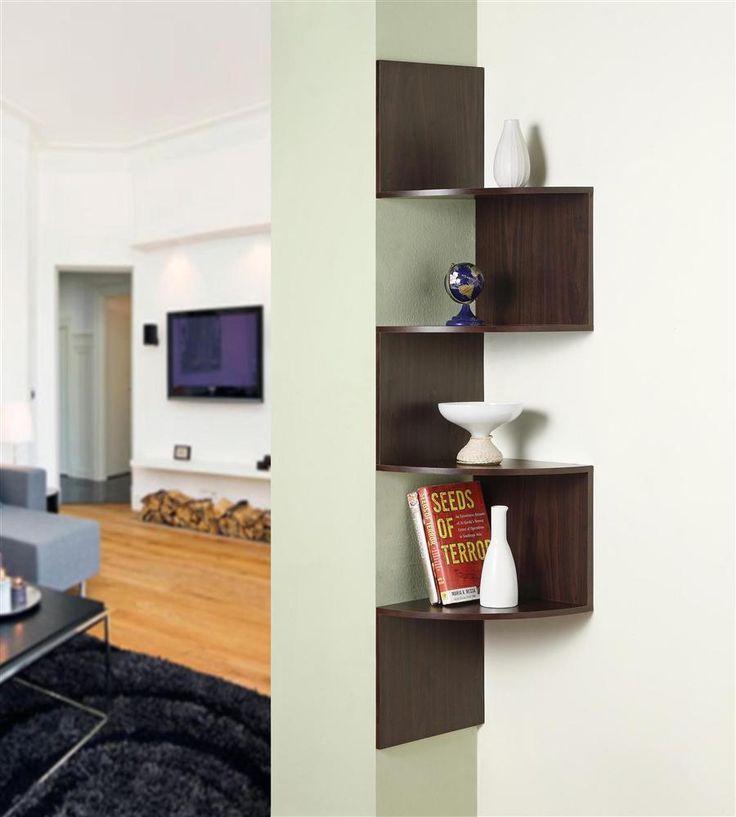 concepts hanging corner bookshelf in espresso