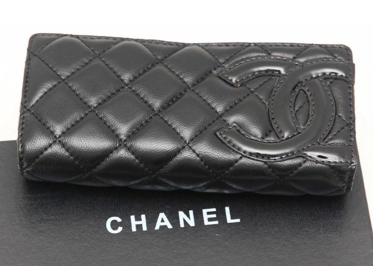 Кожаный кошелек CHANEL черный. Высококачественная натуральная кожа #163