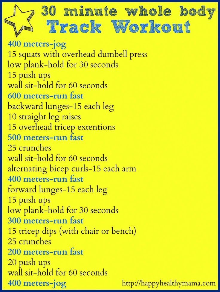 30 minute Whole Body Track Workout // Fitness Friday at Healthy Happy Mama
