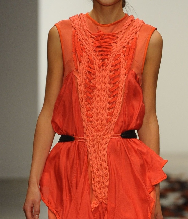 Bora Aksu SS12 - love the mixture of knitted details with the flowing fabric