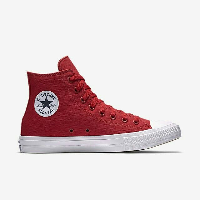 2016- Hip-Hop Mens and Womens Converse canvas shoes red black Touched