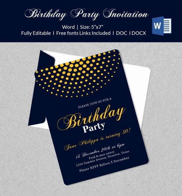Open Office Birthday Invitation Template Beautiful 50 Microsoft Invitation Templa Party Invite Template Invitation Template Birthday Party Invitation Templates