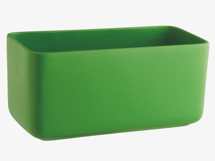 KNOWLES GREEN Ceramic Green ceramic window box planter - HabitatUK