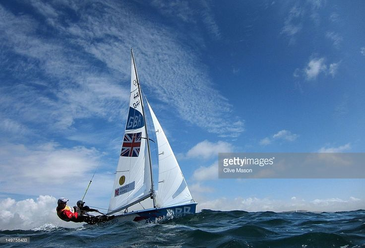 Luke Patience (R) and Stuart Bithell of Great Britain compete in the Men's 470 Sailing on Day 7 of the London 2012 Olympic Games at the Weymouth & Portland Venue at Weymouth Harbour on August 3, 2012 in Weymouth, England.