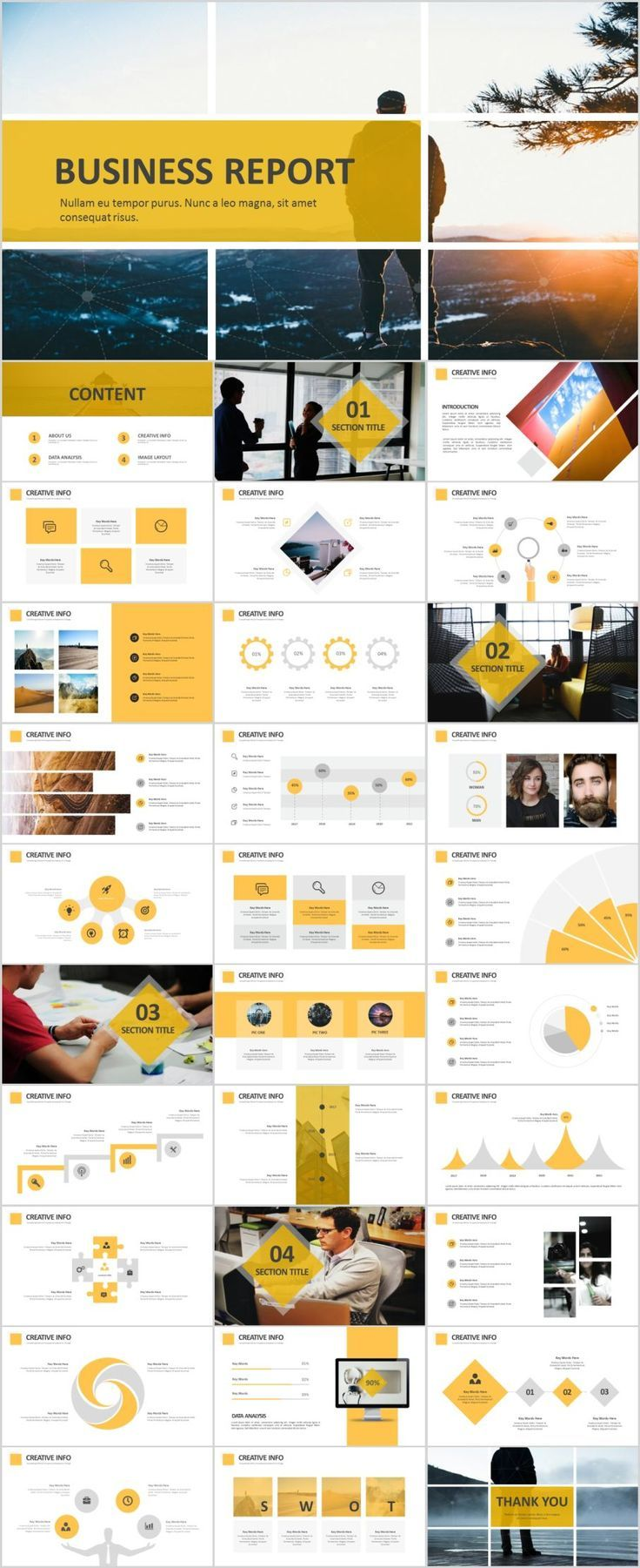 31  Best Yellow Business Report Powerpoint Template