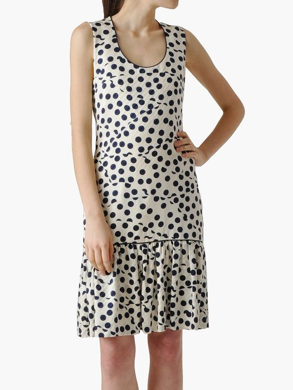 Vintage Carolina Herrera Silk Polka Dot Dress