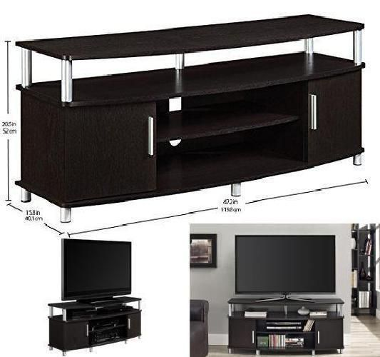 Tv Furniture Console Media Stand Entertainment Center Furniture Espresso Cabinet #AmeriwoodHome#TV,#Stand,#Gaming,#Entertainment,#Media,#Furniture,#Home,#Theater,#Storage