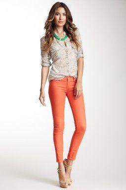 Blank Denim Spray On Colored Skinny Jean