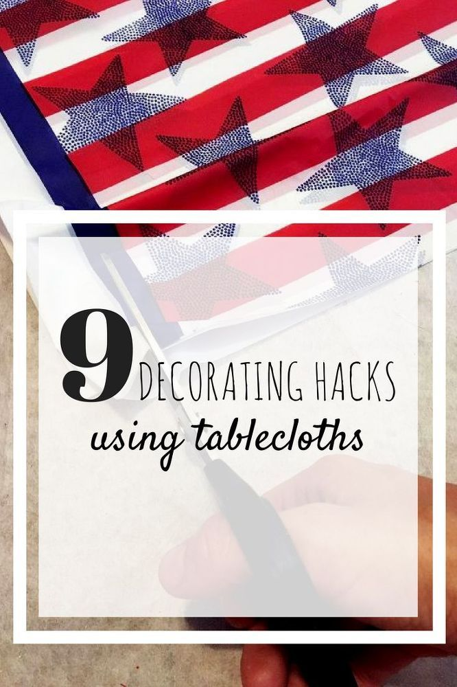 9 Genius Decorating Hacks Using Tablecloths | WWW.HOMEOLOGY.CO.ZA
