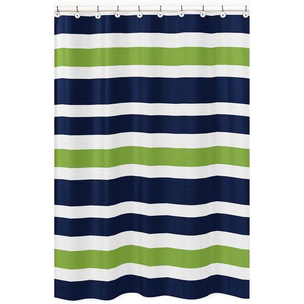Sweet Jojo Stripes Shower Curtain - Overstock Shopping - Great Deals on Sweet Jojo Designs Shower Curtains