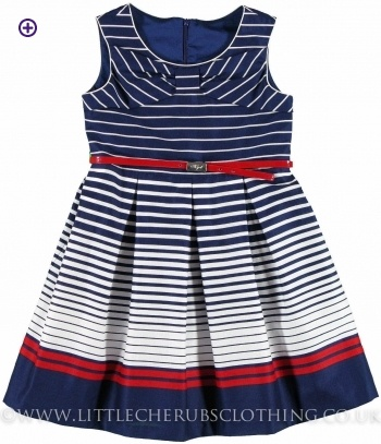 Stripe Dress - MAYORAL 6953 - Little Cherubs Clothing